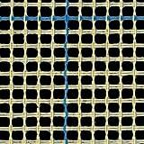 Teppich Leinwand blau gefüttert Knüpfteppich Leinwand Meter 100cm x 100cm