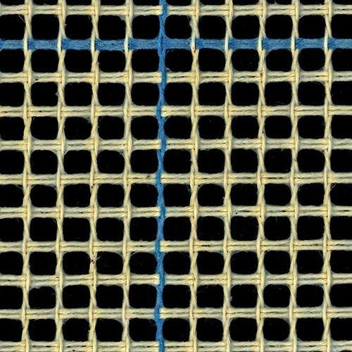 Alfombra/tapiz lienzo (3hpi) azul con forro para alfombra de ganchillo lienzo, azul, 100 x 100 cm