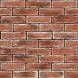 murando - Vlies Tapete - Deko Panel Fototapete - Wandtapete - Wand Deko - 10 m Tapetenrolle - Mustertapete - Wandtapete - modern design - Dekoration - Steine Steinwand Steinoptik Ziegel 1603-3