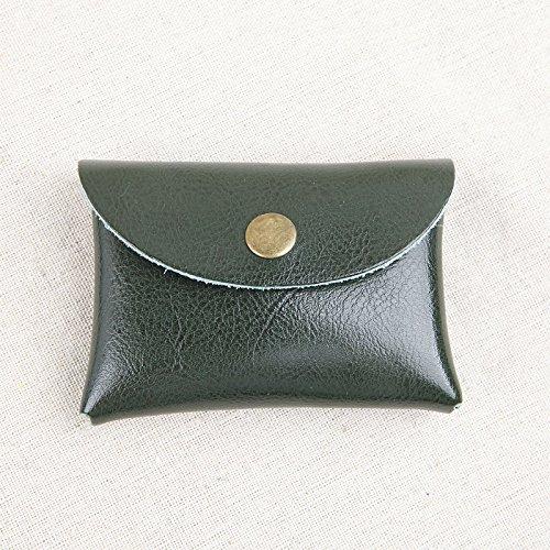 Ultra-dünne Karten Tasche Tasche ändern Schnallen Männer Leder Geldbörse kleine Münze Paket bus Card Green small