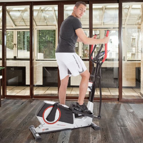 Ultrasport-XT-Trainer-900M1000A-Cross-TrainerElliptical-Trainer-with-Hand-Pulse-Sensors-incl-Drinking-Bottle