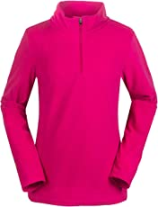 aparso Damen Fleeceshirt Fleece Pullover Skirolli Ski Fleecejacke Warm Pink Schwarz