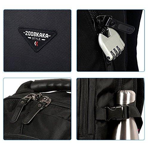 35L Rucksack Laptop Leichtgewichtiger Notebook Rucksack Outdoor Rucksack Multifunktion Rucksack für Reisen Business Bergsteigen Schwarz mit Camouflage Farbe