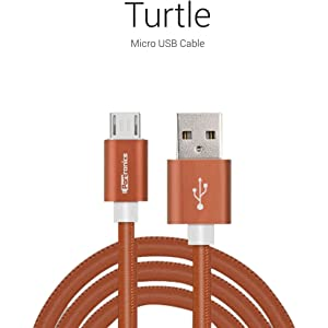 Portronics Turtle micro USB cable Brown