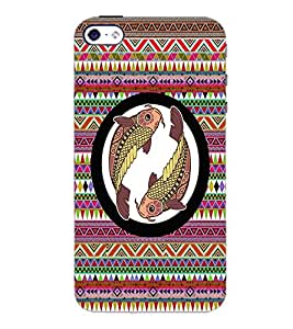 PrintDhaba Zodiac Pisces D-3531 Back Case Cover for APPLE IPHONE 5S (Multi-Coloured)