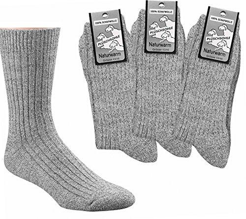 Preisvergleich Produktbild socksPUR,  Herren Gesundheitsocken mit Plüschsohle,  3er-Bündel,  Farbe: graumeliert