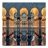 Bilderwelten Papier peint intissé - Réflexion dans la Mosquée - Mural Carré papier peint photo intissé tableau mural photo 3D mural, Dimension: 288cm x 288cm