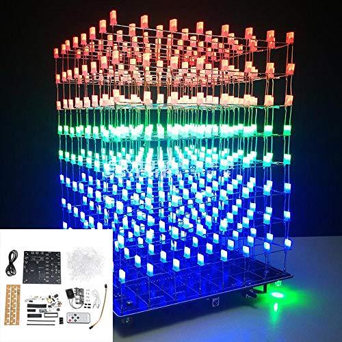 Accessories & Parts Straightforward 3d 8x8x8 Square Diy Led Blue Cubes Kit Mp3 Music Spectrum Cubes Beads Bag