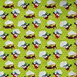 Lime Grün Mottoparty Zoom Design aus Stoff