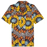 Candow Look Chemise Homme Plus Size African Batik Cotton Clothing
