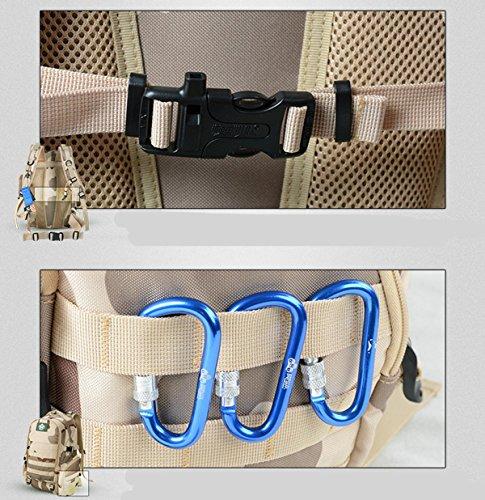 DBZD Outdoor-Tarnungs-Doppel-Schulter taktisches Paket, Multifunktions-Armeetarn-Tasche A