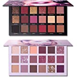 2Pcs UCANBE Twilight Dusk + Aromas Nude Eyeshadow Palette Makeup Set, Matte Shimmer Glitter Pressed Pearl All Highly Pigmente