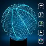 [Basketball] BOPU 7Farbwechsel Skulptur leuchtet in erzeugt Einzigartige Licht Effekte und 3D-Visualisierung Erstaunlich, optische Täuschung, USB Licht, Beleuchtung Gadget Lampe Awesome Geschenk