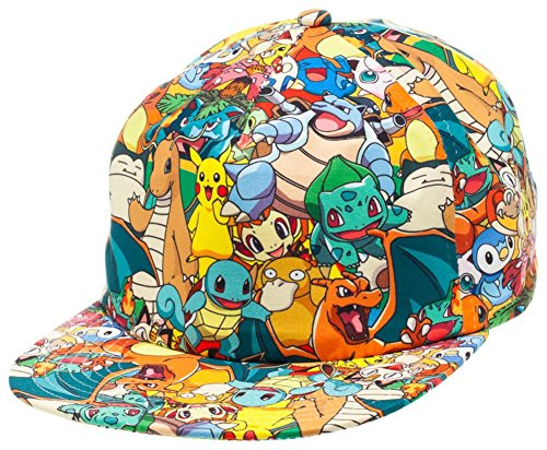 Official Pokemon Snapback Adjustable Soft Hat