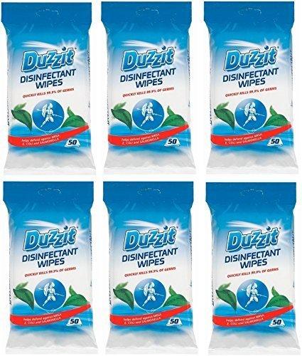 6-x-duzzit-pack-de-50-desinfectante-toallitas-mata-999-de-los-germenes