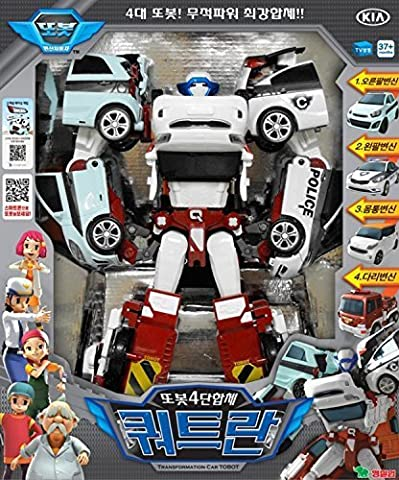 Tobot Quadrant 4 Transformer Robot Vehicle Figure : Korean Animation Transformers Character