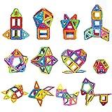 Magnetische Bausteine, 84 Stück Satz Konstruktionsbausteine Spielbausteine für Kleinkinder und Eltern, 48 Magnetische Bausteine + 38 Nicht Magnetisch Zubehör von distianert