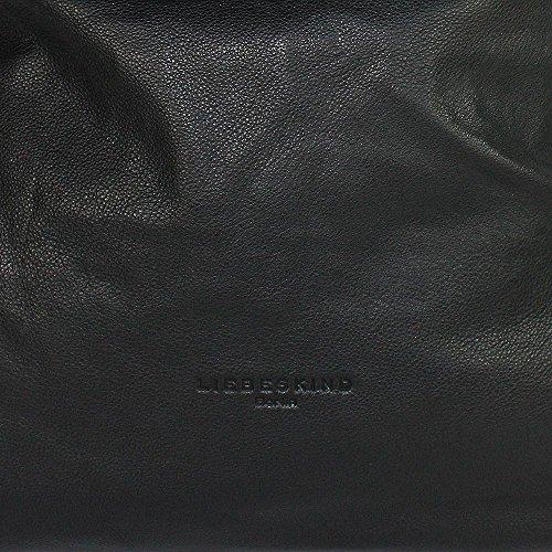 Liebeskind Yokohama Borsa a spalla pelle 40 cm ninja black