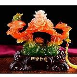 Décoration d'intérieur Jade Wishful Ornements Salon Décoration Décorations Pour La Maison Xuan Guan TV Cabinet Vin Armoire Cadeau Artisanat ( Couleur : Rouge , taille : Les petites )...