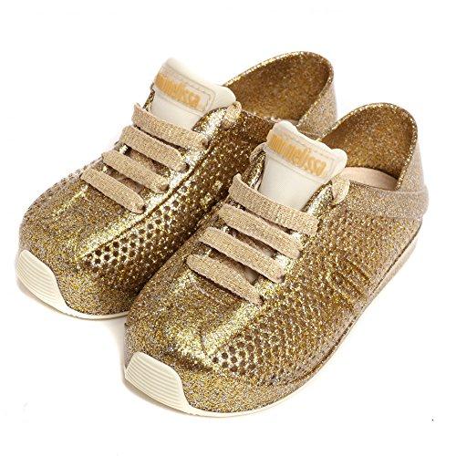 Melissa Sapatos Mini System Amor 18 Glitter Dourado