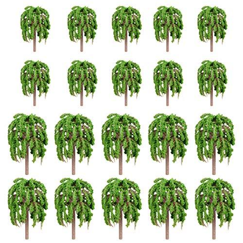 Spieland 20St. Modell Bäume Baum Modellbaum Set Mini Landschaft Landschaftsgestaltung Miniatur Garten Deko Modelleisenbahn Zubehör