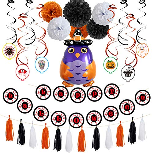 uminiumfolie Ballon Set Owl Wizard Ballon für Geburtstag Halloween Ghost Festival Party Baby Shower Dekoration Lieferungen ()