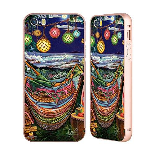 Ufficiale Denyse Klette Prime Nazioni Madre La Principessa E Il Pisello Oro Cover Contorno con Bumper in Alluminio per Apple iPhone 5 / 5s / SE Madre Hawaii