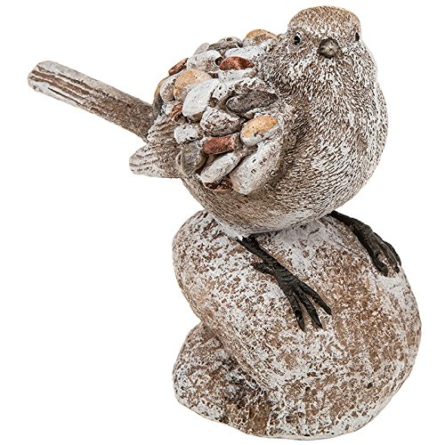 Pebble art bird garden ornament on Rock / decoration / decorative figure