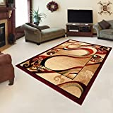 "Rug ROYAL Cream Modern Design Best Price High Quality Living Room S - XXL Wavy Pattern 110 x 265 cm (3ft8"" x 8ft9"")"