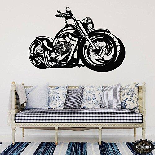 hllhpc Wandtattoo Harley Motorrad Vinyl Wandaufkleber Wandhaupt Schlafzimmer Dekor Wohnzimmer Dekoration Poster57 * 85 cm