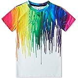 Idgreatim Ragazzo Ragazze t Shirt 3D Magliette Stampata Grafica per Bambini Ragazzo t Shirt Manica Corta da Bambino 6-16 Anni