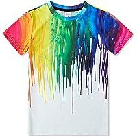 Idgreatim Ragazzo Ragazze t Shirt 3D Magliette Stampata Grafica per Bambini Ragazzo t Shirt Manica Corta da Bambino 6-16…