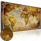 B&D XXL murando - Leinwandbilder Weltkarte Vintage 150x90 cm - Bild für die Selbstmontage - Wandbilder XXL - Kunstdruck - Landkarte Geographie sepia k-A-0005-b-a
