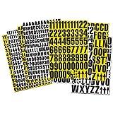 Magnetzahlen Magnet-Ziffern Lagerkennzeichnung Lagerbeschriftung magnetisch - 23mm hoch - Magnetische Zahlen inkl. Sonderzeichen - Ideal für Regale, Schränke und Schaukästen, Farbe:weiß