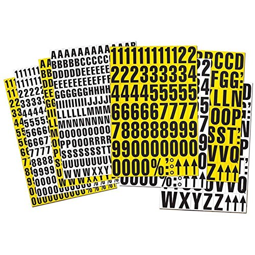 Lagerkennzeichnung, Lagerbeschriftung magnetisch, Magnetzahlen, 23mm hoch - inkl. Sonderzeichen, Farbe:weiß