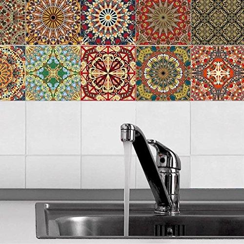 JY ART X Pegatinas de Azulejos Backsplash 20 Pc Set Diseños de...