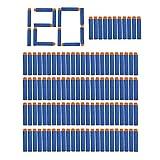 niceEshop(TM) Lot de 120 Pcs Balles Universelles de Recharge pour Pistolets Nerf N-Strike, Fléchettes Recharge, Balle pour Nerf N-Strike Elite Blasters (Bleu, 120 Pcs)