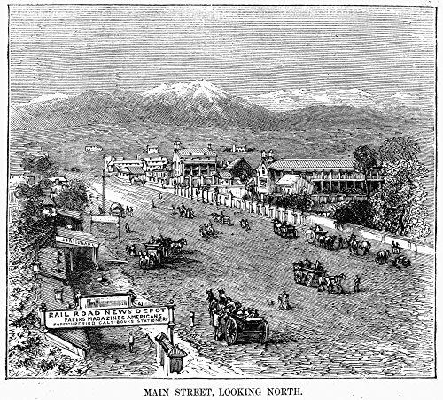 The Poster Corp Salt Lake City 1872. /Nlooking North On Main Street In Salt Lake City Utah. Engraving 1872. Kunstdruck (45,72 x 60,96 cm) -