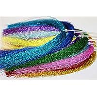 17paquetes colores Flashabou holográfica espumillón para pesca con mosca atar Crystal Flash cadena moscas materiales