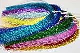 17Packungen Farben Flashabou Holografische Lametta Fly Angeln Binden Kristall Flash Saite Fliegenbinden Materialien