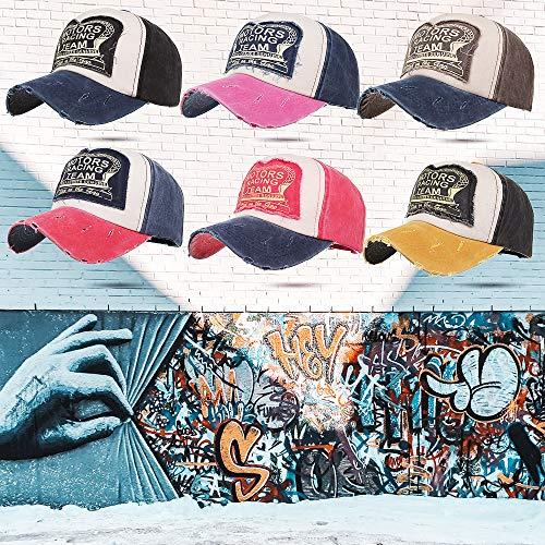 Imagen de  de béisbol de mezclilla vintage impreso motors racing sport snapback trucker hat hip hop  para mujeres y hombres alternativa