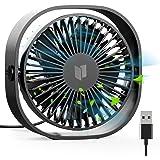 RATEL Ventilateur de table USB, 12,5 cm Mini ventilateur de bureau Utiliser avec un câble de 1,2 mètres, Portable et personne