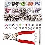 MASUNN 150 Set 9.5 mm 10 Colori Perno Anello Pressa Borchie Snap Fissaggi Dummy Pinza Per Clip