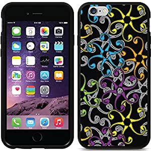 Coveroo Switchback Black Cell Phone Case for iPhone 6 - Retail Packaging - Twirls & Swirls Multicolor