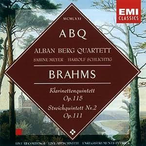 Brahms : Quintette avec clarinette, Op. 115 - Quintette à cordes n° 2, Op. 111