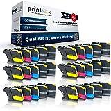 30x kompatible Tintenpatronen für Brother LC121 LC123 DCP J552DW DCP J752DW MFC J6920DW MFC J870DW MFC J285DW MFC J470DW MFC J475DW - Sparpack - Office Line Serie