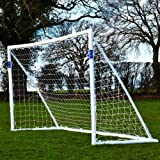 FORZA - 2,4 x 1,8 m wetterfestes Fußballtor. Neu: auch mit abnehmbarer Torwand bestellbar! [Net World Sports]