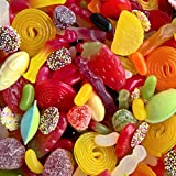 """Mixed Vegetarian Sweets 1kg, """"Calum's Mixes ® """" Includes Jelly Beans, Giant Strawberries, Fizzy Cola Bottles, White Mice and Lots More!"""