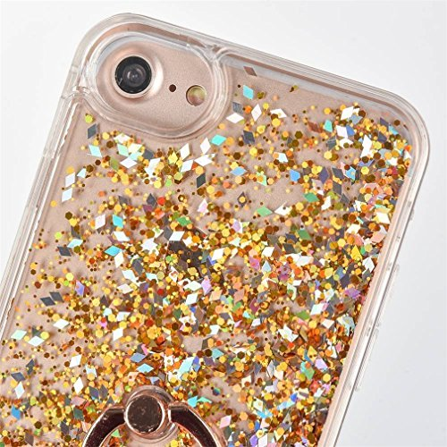 iPhone 6S liquide Coque, iPhone 6Coque Bling, iPhone 6s 11,9cm Coque paillettes, CE iPhone 6S 6Luxe Bling Paillettes Diamant Fluide 3d Creative Quicksand Housse, iPhone 6s Coque [avec anneau Béquil A-Diamonds Ring 2