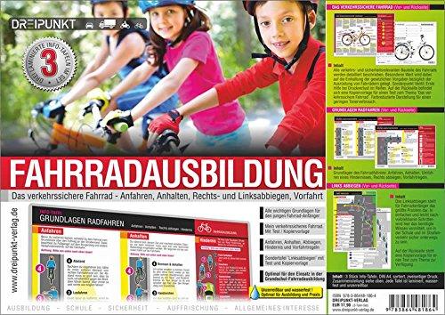 Set Fahrradausbildung: 3 zweiseitigen Info-Tafeln im Format DIN A4